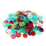 Toyvian 400 unidades de 4 colores de 3/4 pulgadas por cuenta, marcadores de bingo para cartas de juego de bingo.