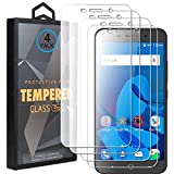 Ycloud 4 Pack Vidrio Templado Protector para ZTE Blade A602, [9H Dureza, Anti-Scratch] Transparente Screen Protector Cristal Templado para ZTE Blade A602