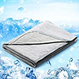 Cooling Blanket, LUXEAR Japanese Q-Max 0.4 Cooling Fiber Lightweight Cool Blanket 51 X
