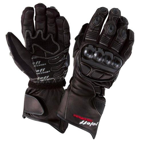Roleff Racewear Textil/Lederhandschuhe, Schwarz, XXL