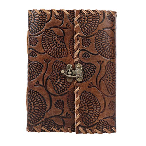 GNG - Diario in pelle Nell Camel Writing Notebook :: Fatto a mano in India :: 5x7