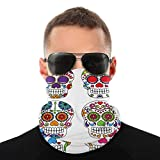 Face Scarf Bandana Set of Day of The Dead Or Skulls Dustproof Headband Neck Gaiter Balaclava Headwear Breathable Face Cover for Outdoors for Women Men