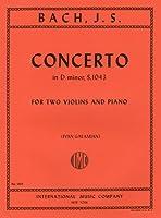 バッハ, J. S.: 2本のバイオリンと管弦楽のための協奏曲 ニ短調 BWV 1043/ガラミアン編/インターナショナル・ミュージック社/ピアノ伴奏付2本のバイオリン楽譜