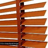 WENZHE Holzjalousie Jalousien Fenster Sichtschutz Holz Jalousette Rollos Zuhause Fenster Dekoration Klinge 35 / 50mm - Größe Anpassbar (Color : 35mm, Size : 80x160cm)