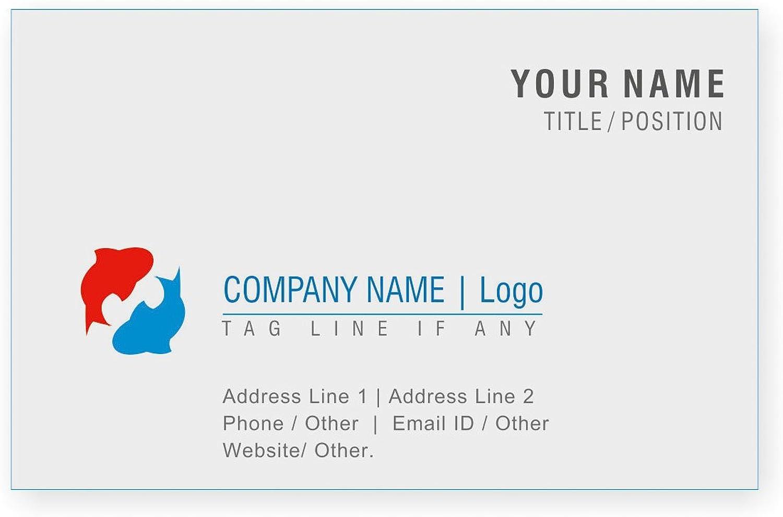 Personalisierte Logo Visitenkarten Kundenspezifische Professional Company Visitenkarte - Front B01EUKV590    Elegante und robuste Verpackung