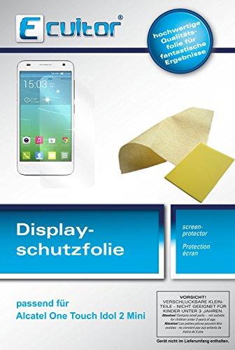 Ecultor I 6x Schutzfolie klar passend für Alcatel OneTouch Idol 2 Mini 6016D Folie Displayschutzfolie