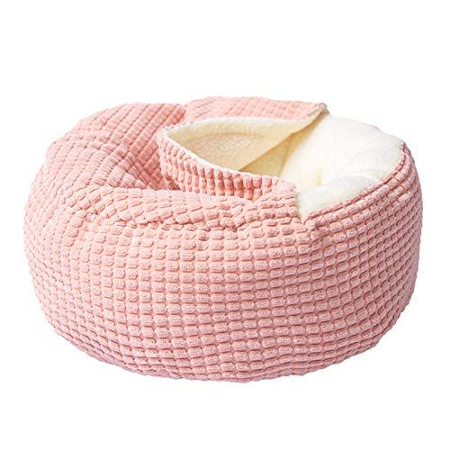 Noband JSFGFSDH - Cojín redondo para mascotas con diseño de cueva, ideal para dormir en invierno, para perros pequeños y medianos