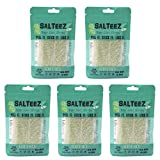 Salteez Beer Salt Strips: Real Salt & Lime Flavor Strips That Stick to Your Bottle, Can, or Cup - For a Perfectly Dressed Beer Anytime Anywhere! (Salt & Lime, 5 Pack)