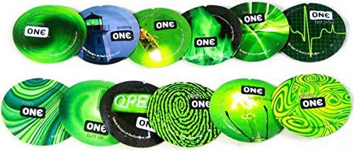 ONE Glowing Pleasures with Silver Lunamax Pocket Case, Premium Glow-in-The-Dark Condoms-24 Count