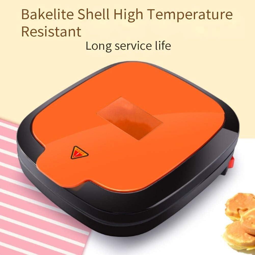 ALY Machines à gaufres, Gaufrier revêtement antiadhésif Machines à gaufres Plaques Amovibles Orange
