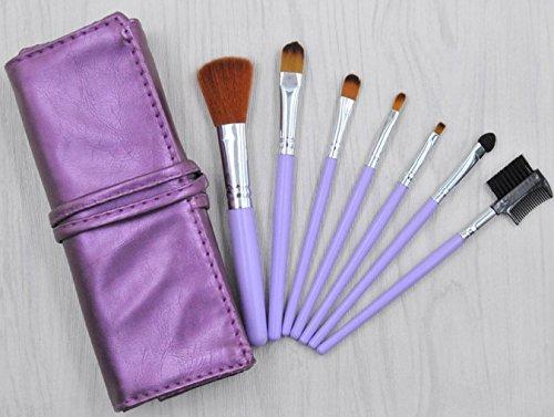 YZ-YUAN 7Pcs Maquillaje Brochas Sets Adecuado para Todo Tipo De Productos Polvo...