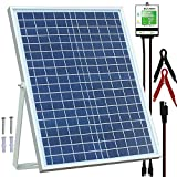 SOLPERK 20W Solar Panel12V Solar Panel Charger Kit+8A Controller Suitable for Automotive, Motorcycle, Boat, ATV, Marine, RV, Trailer, Powersports, Snowmobile etc. Various 12V Batteries. (20W Solar