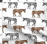 Esel, Maultier Stoffe - Individuell Bedruckt von