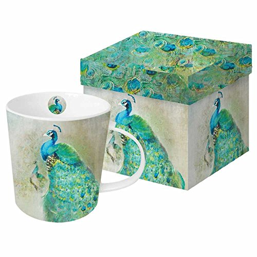 Paperproducts Design Peacock Royale Mug In A Gift Box, Anthony Morrow