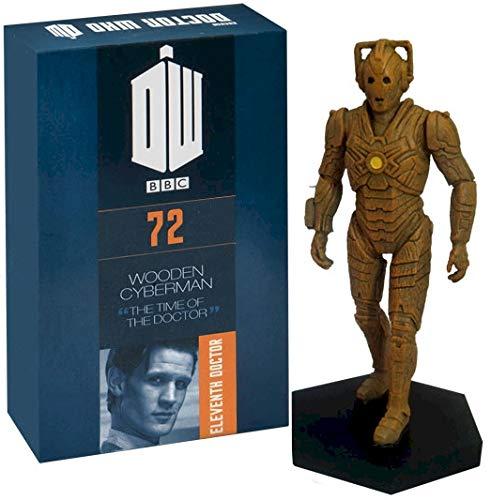 Figura de Cyberman de madera pintada a mano con licencia oficial de Merchandise Doctor Who de tamaño 1:21,  figura en caja modelo #72
