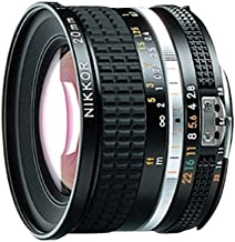 Nikon NIKKOR 20mm f/2.8 Negro - Objetivo (12/9, 0,259 m, Manual, 2 cm, 94°, LF-1, CL-0915)