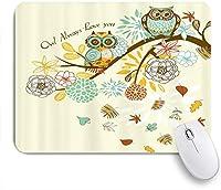 ZOMOY マウスパッド 個性的 おしゃれ 柔軟 かわいい ゴム製裏面 ゲーミングマウスパッド PC ノートパソコン オフィス用 デスクマット 滑り止め 耐久性が良い おもしろいパターン (秋のフクロウ)