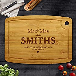 Mr & Mrs Personalised Chopping Board
