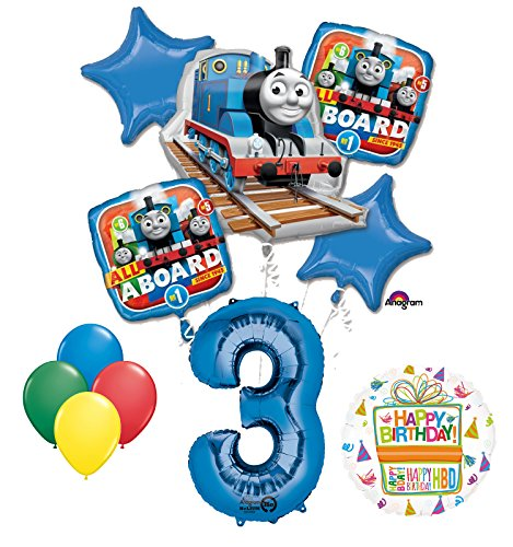 party supplies train toys The Ultimate Thomas the Train Engine 3rd Birthday Party Supplies and Balloon Decorations