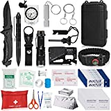 Napasa Survival Kit 54 in 1 Professional Survival Gear Tool Emergency Tactical First Aid Equipment...