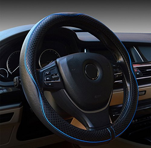 Rueesh Leather Car Steering Wheel Cover - Heavy...