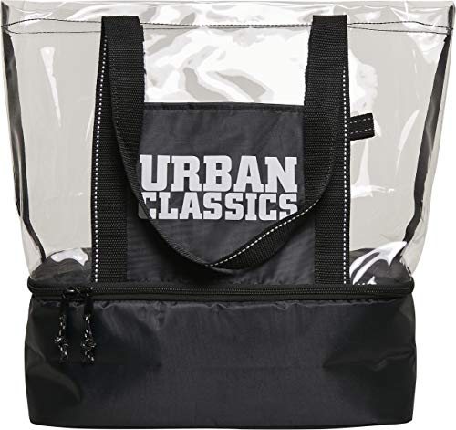 Urban Classics, Cooling Beachbag Unisex adulto, Negro/transparente, Einheitsgröße