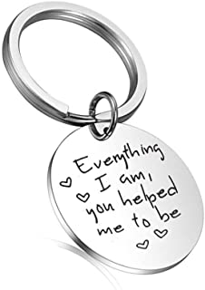 Mom Dad Gifts from Daughter Everything I Am You Helped Me to Be Keychain Mothers Fathers Day for Teacher Dad Mom Grandma G...