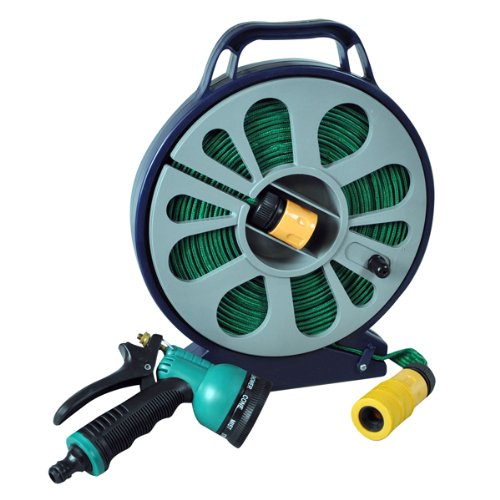 Kingfisher 15M Hose Pipe with Non Kink Cassette