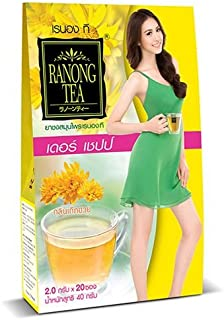 Ranong Tea, Derr Chape, Herbal Infusion Drink, Chrysanthemum Flavour, 40 g [Pack of 1 piece]