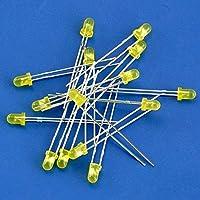 Electronics-Salon 黄色 LEDラウンド千個 直径3ミリメートル、通常 明るさ 1000ピース