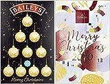 Calendario de adviento para él y para ella, colección baileys chocolate trufas & domori italian chocolate