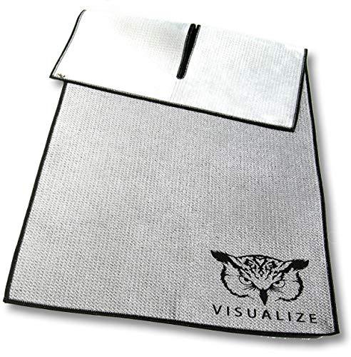Wing XL Golf Towel - Unique Center-Cut Waffle-Shammy Hybrid Construction, Premium Golf Towel...