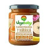 Vegebaby, Potito de fruta para bebé (Plátano, manzana y naranja) - 8 de 190 gr. (Total 1520 gr.)