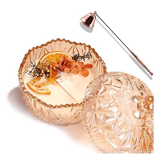 Mnwan Vela perfumada con extintor de Velas, Regalo de la Vela para Las Mujeres, la Cera Natural de la Soja, 25 Horas Quemar la Fragancia de la casa de la casa, Las Velas de la Tarro de Cristal