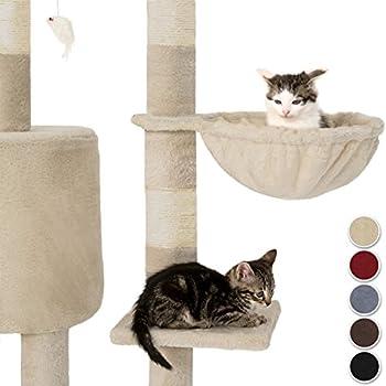 TecTake Arbre à Chat Griffoir Grattoir - diverses couleurs au choix - (Gris)