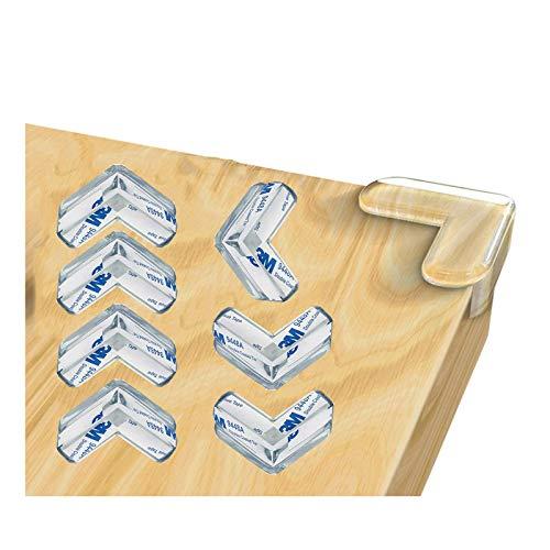 YANGJI12 Pezzi Paraspigoli,Paraspigoli Bambini,Forma a L Paraspigoli Trasparenti, per angoli tavolo e mobili Protezioni di Sicurezza di Bambini. (19 * 15)