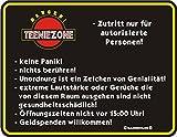 Rahmenlos Fun Schild - Teeniezone Zutritt nur..Teenie Teenager