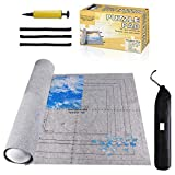 Jigsaw Puzzle Mat Roll Up - 2000 Pieces, 1500, 1000 Pieces Saver Large Puzzles Board for Adults Kids, Storage and Transport Premium Pump Glue Felt Mat Inflatable Tube Holder Organizer Pad Keeper