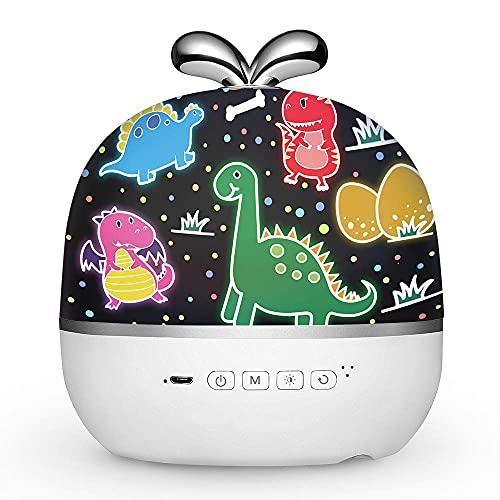 Kawaii Proyector de cielo estrellado LED, proyector con temporizador, luz nocturna para niños, bebés, niñas, altavoz Bluetooth 6 películas de proyección, giratorio 360°,habitación infantil…