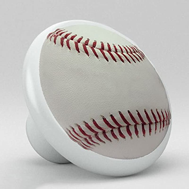 Sports Ceramic Porcelain Round Knobs Baseball