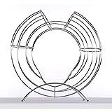DESIGN DELIGHTS DEKORATIVER FRÜCHTEKORB Circle | 40 cm, Metall, Silber | Obsthalter, Fruchtspender