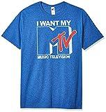 Nickelodeon Men's Want Logo T-Shirt, Premium Royal Heather, Large