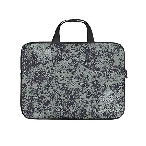 Water Resistant Marble Texture Laptop Sleeve Case Protective Bag Briefcases -Abstract for Work/Business/School/College/Travel White 15 Zoll