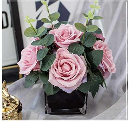 XWZH Künstliche Blume 1 Stück1 Waschbecken Künstliche Blumen für Dekoration Rose Pfingstrose Seide Kleine Blumenstrauß Flores Party Dekoration Blumen (Color : 1)