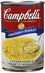 Chicken noodle soup helps break up congestion, reduce inflammation and soothe a sore throat cause by colds and flus.