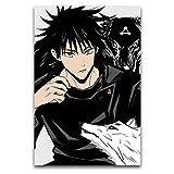 Jujutsu Kaise - Póster de lobo negro y fushiguro para pared, lienzo artístico, impresión moderna, decoración de pared, sin marco, para sala de estar, dormitorio, estudio, bar
