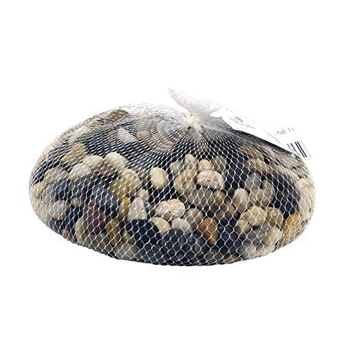 Rayher 8808104 Fluss-Kiesel, mittelbraun, Beutel 1 kg, natürliche Steine für schöne Dekorationen
