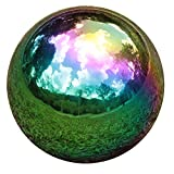 YeahaWo Rainbow Gazing Globe Mirror Balls for Garden Home Stainless Steel Shiny Hollow Sph...