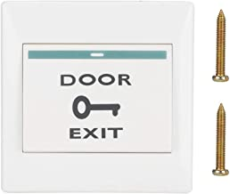 Zopsc Exit Release Button 12-24V Wall Push Switch Panel Door Open with Self-Reset Function for Door Access Control(E6)