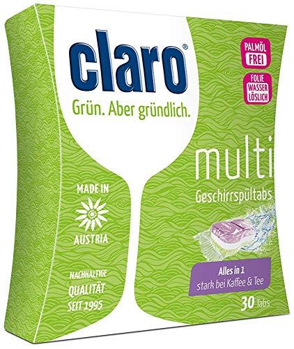 claro Multi Tabs - fosfaatvrije alles in 1 eco vaatwasser-abs in voordeelpakket 30 stuks verpakking